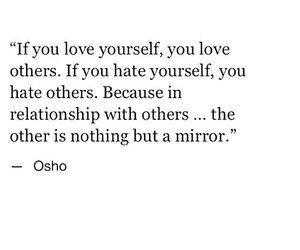 quote, love, and osho image