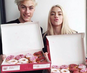 donuts, lucky blue smith, and boy image