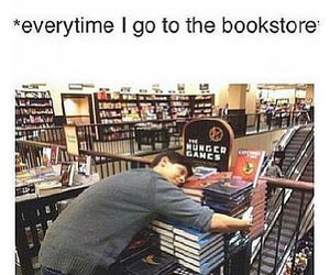 book, bookstore, and the hunger games image