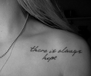 always, hope, and tatto image
