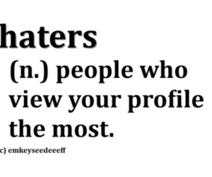 haters, profile, and quote image