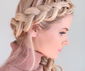 braid, hair, and blonde image