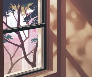 gif, tree, and window image