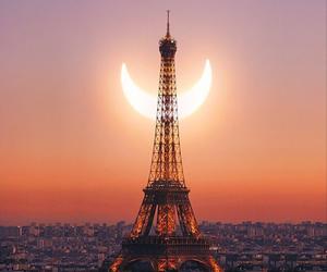 paris, moon, and eclipse image