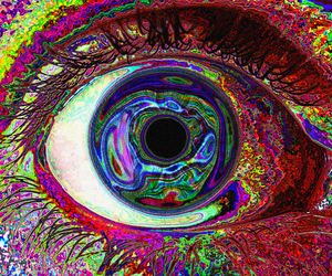 psicodelic, ojo, and trippy image