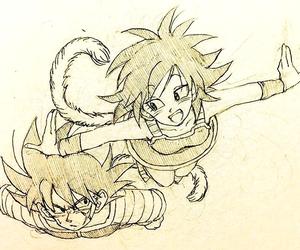 dragonball, bardock, and goku's mother image