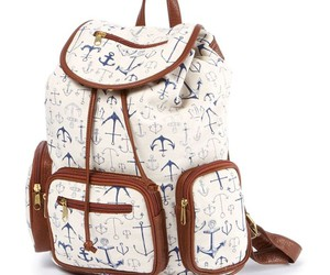 backpack, leather, and white image