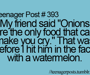 teenager post, funny, and watermelon image