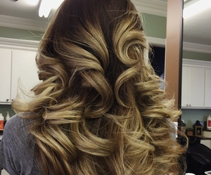 curly hair, extensions, and hairstyle image