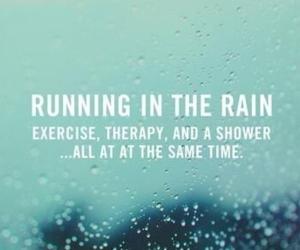 running, fitness, and rain image