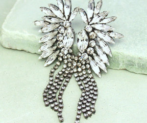 bridal, earrings, and jewelry image