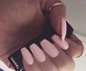 chanel, nails, and girl image