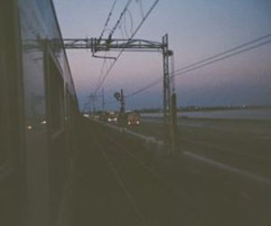 train, grunge, and dark image