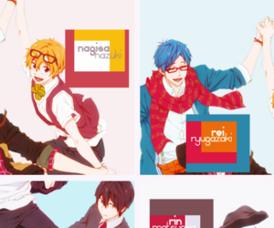 anime, boys, and iwatobi swim club image