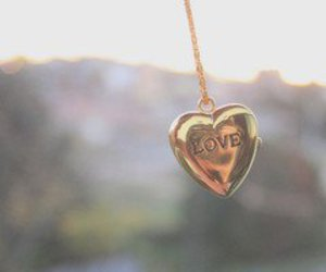 love, heart, and necklace image