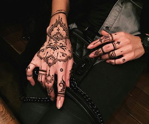 boho, lux, and nails image