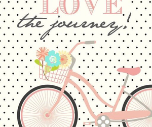 bike, pink, and journey image
