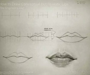 lips, art, and how to draw image