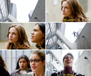 arrow, danielle panabaker, and the flash image