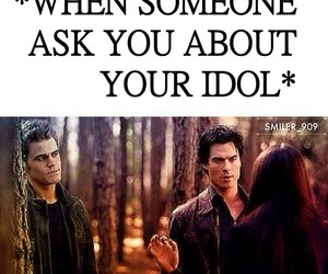damon, funny, and the vampire diaries image