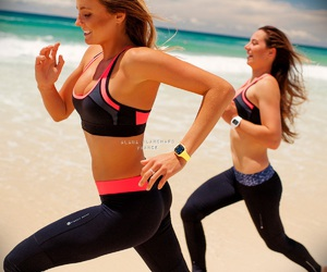 run, fitness, and beach image