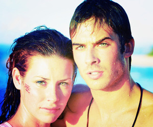 lost, evangeline lilly, and ian somerhalder image