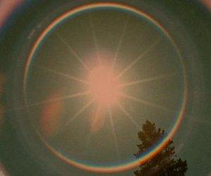 sun, rainbow, and light image
