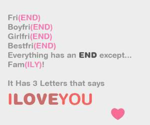 love, family, and end image