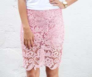 fashion, lace, and pink image
