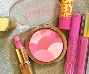 makeup, pink, and baby lips image