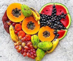 fruit, healthy, and fitness girl image