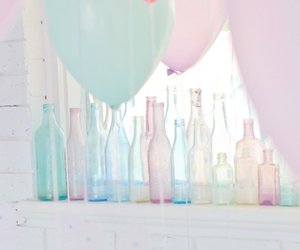 pastel and bottle image
