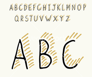 alphabet, doodle, and font image