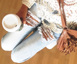summer, coffee, and fashion image