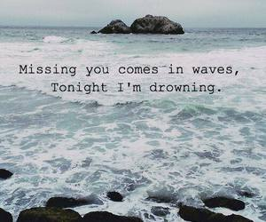 drowning, quote, and sea image