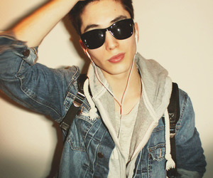 boy, jawline, and sunglasses image
