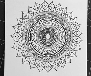 art, mandala, and doodles image