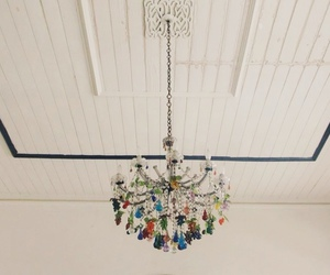 chandelier and colors image