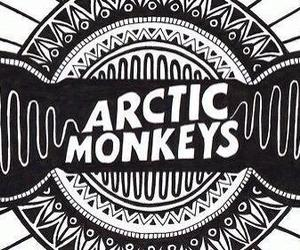 arctic monkeys, white, and blak image