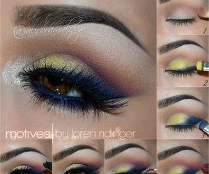 makeup, eye makeup, and make up image