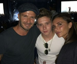 beckham, David Beckham, and family image