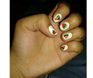 colors, sandia, and nails image