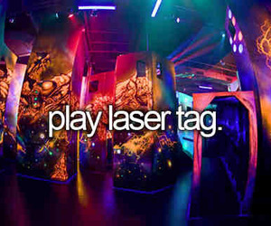 bucket list and laser tag image
