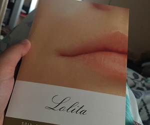 book, face, and lips image