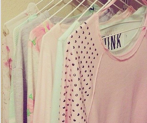 pink, sweater, and clothes image