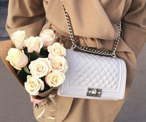 coco chanel, roses, and style image