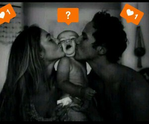 couple, baby, and kiss image