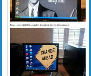 computer, funny, and awesome image