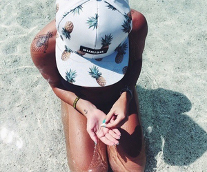 beach, pineapples, and summer image