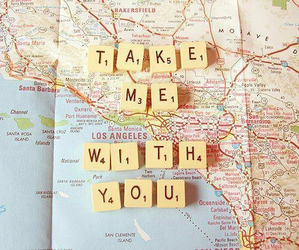 map, travel, and quotes image